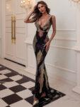 Дълга бална рокля Джиана в черно-Copy