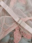 Прозрачно дамско боди Далина в кралскосин цвят-Copy