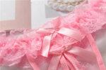 Еротично дамско бельо Алара с отворено дъно с перли в цвят циклама - прашка-Copy