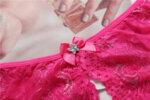 Еротично дамско бельо Лолита с отворено дъно в червен цвят - прашка-Copy