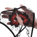 Еротично дамско бельо Далита с отворено дъно в черен цвят - прашка