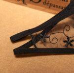 Еротично дамско бельо Лолита с отворено дъно в черен цвят - прашка-Copy