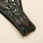 Дамско дантелено бельо от две части Елма в червен цвят - сутиен и бразилиана-Copy