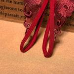 Отворени отдолу еротични дамски прашки Грациела в червен цвят-Copy