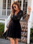 Разкроена рокля с тюл Палома в цвят мента-Copy