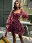 Разкроена рокля с буфан ръкави Анита-Copy