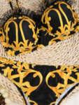Черен бански Олесия от две части с дантелени презрамки-Copy