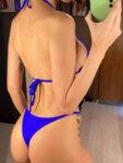 Бански костюм от три части с плажна рокля Вера в син цвят