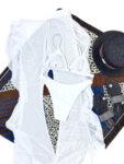 Бански костюм от три части с панталон Люсия в цвят каки-Copy
