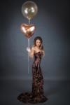 Дълга бална рокля Кейт в златист цвят