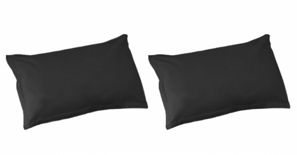 Калъфки за възглавници/памучен сатен черно