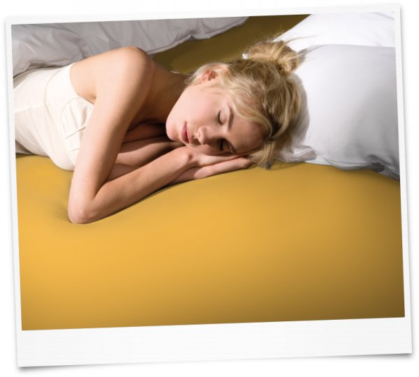 Bella Donna чаршаф с ластик Jersey (0040 тъмно жълто)
