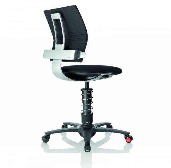 Ергономичен стол 3Dee black/основа хром