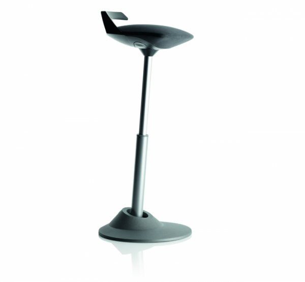 Ергономичен стол Muvman, black, сива основа