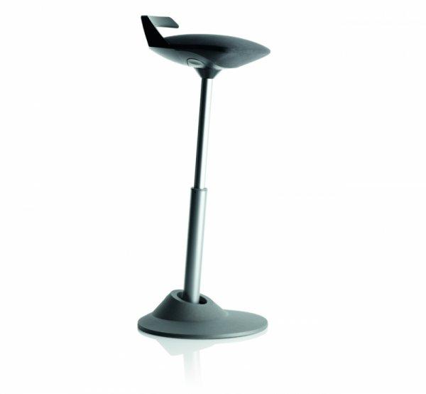 Ергономичен стол Muvman Black Silver Base