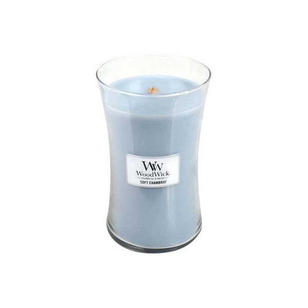 WoodWick ароматна свещ Soft Chambray