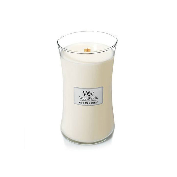 WoodWick ароматна свещ White Tea Jasmine