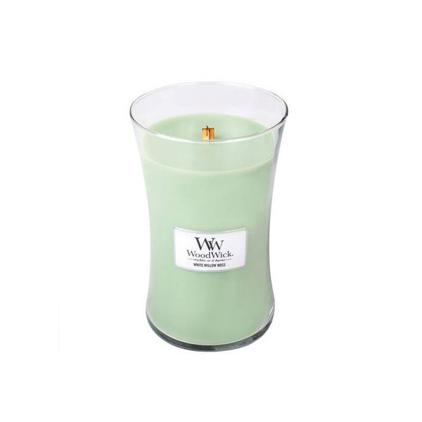 WoodWick ароматна свещ White Willow Moss