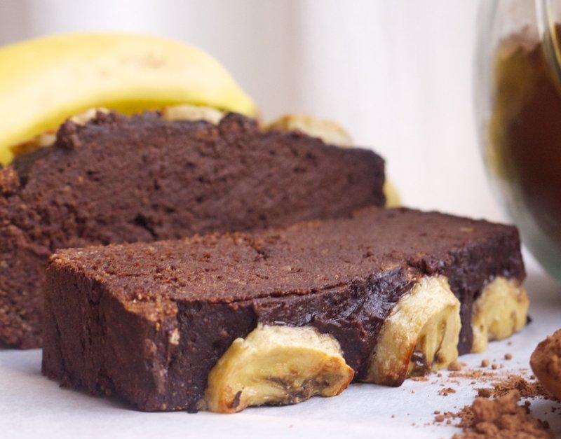 Лесен домашен какаов кекс с банани
