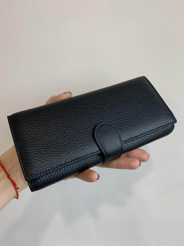 Кожено Черно Портмоне - Модел 1289