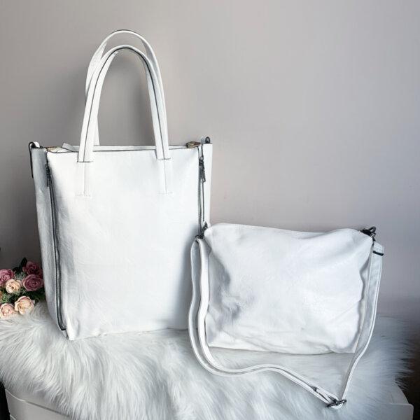 Бяла чанта 2 в 1