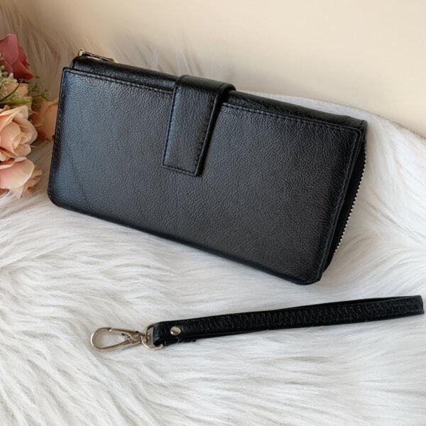 Естествена кожа портмоне Черно Модел 228