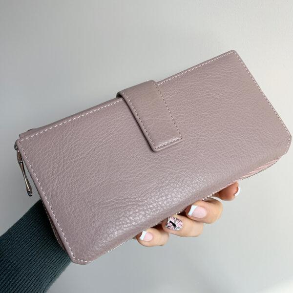 Естествена кожа портмоне Розово Модел 228