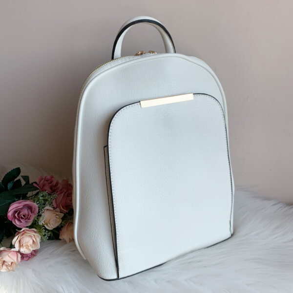 Елегантна Бяла Чанта-Раница - Модел М6169-Copy