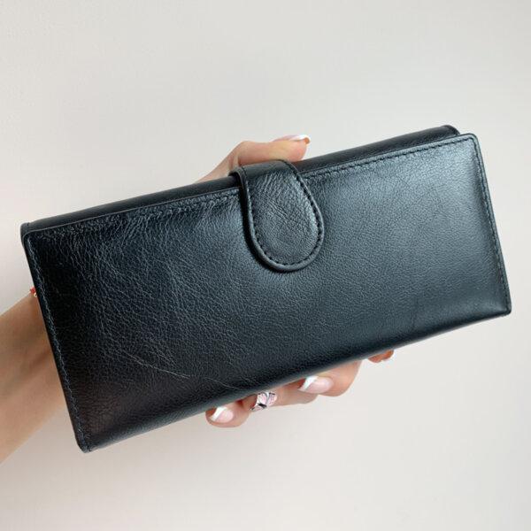 Черно Портмоне естествена кожа модел В031-1