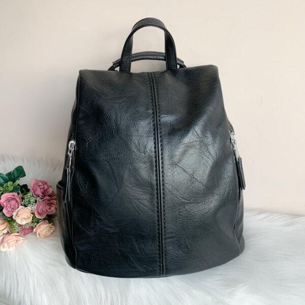 Нова Дамска Раница/Чанта Черен цвят 86732