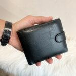 Мъжки Кожен портфейл черен Модел-М30