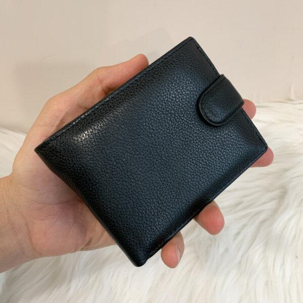Мъжки черен кожен портфейл Модел-Е61635