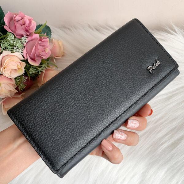 Черно портмоне Естествена кожа Модел Петек 85242