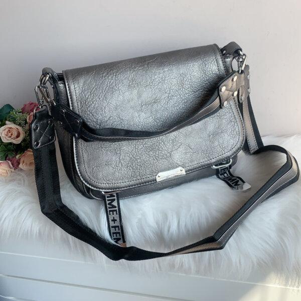 Дамска Чанта Сребриста - Модел 8677