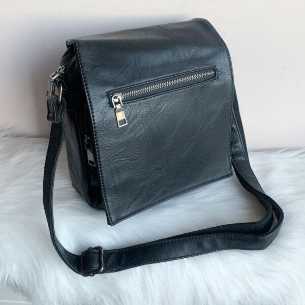 Мъжка кожена Черна чанта Модел- 066