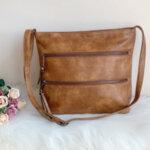 Дамска кожена кафява чанта Модел-Е 7402-Copy