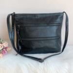 Дамска кожена кафява чанта Модел-А2024-Copy
