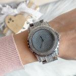 Луксозен дамски часовник с кристали модел W78-Copy