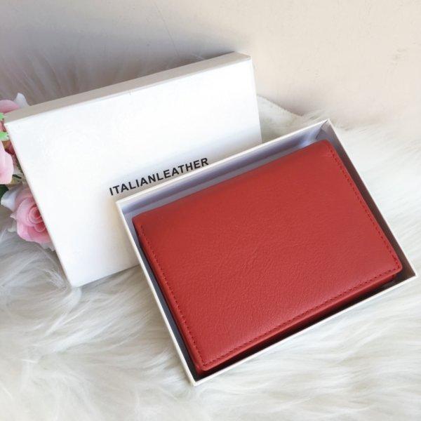 Червено портмоне 100% Естествена Италианска кожа Модел-1865
