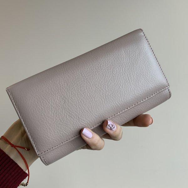 Кожено Портмоне Пурпурен Цвят - Модел Е 1286