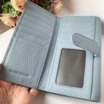 Естествена кожа портмоне модел Е 1286 син цвят