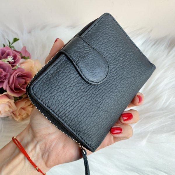 Естествена кожа портмоне Цвят Черен Модел Е999