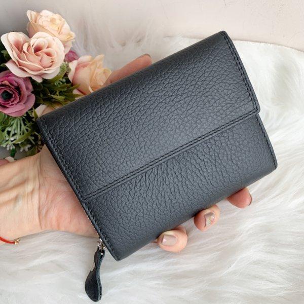 Естествена кожа портмоне Цвят Черен Модел Е998-1450