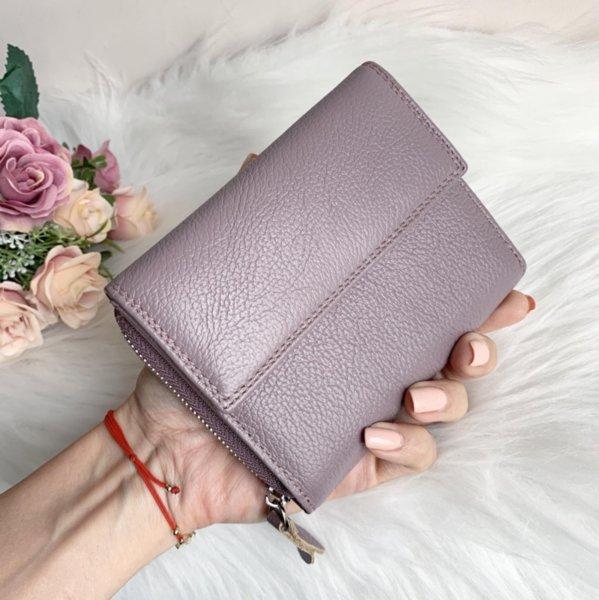Естествена кожа портмоне Пурпурен цвят Модел Е998-1450