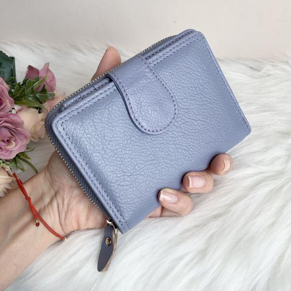 Естествена кожа портмоне Цвят Светло лилав Модел Е999