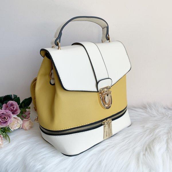 Жълта Чанта Раница Модел - 38007