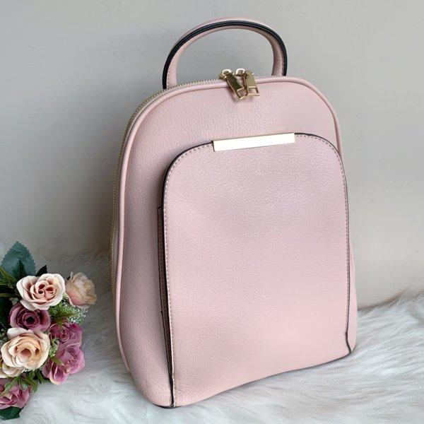 Елегантна Кожена Розова Чанта-Раница - Модел М6169