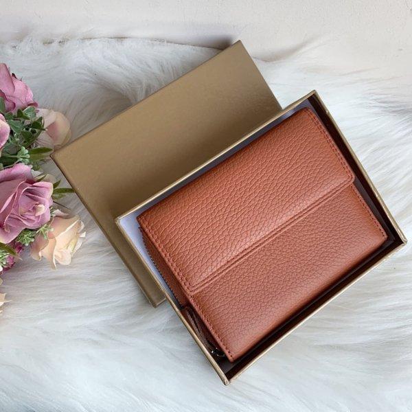 Естествена кожа портмоне Оранжев цвят Модел Е998-1450-Copy