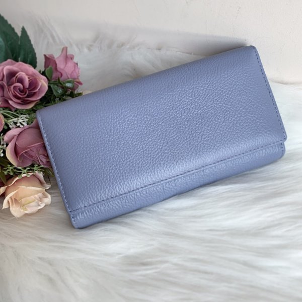Естествена кожа портмоне модел Е 1286 светло лилаво
