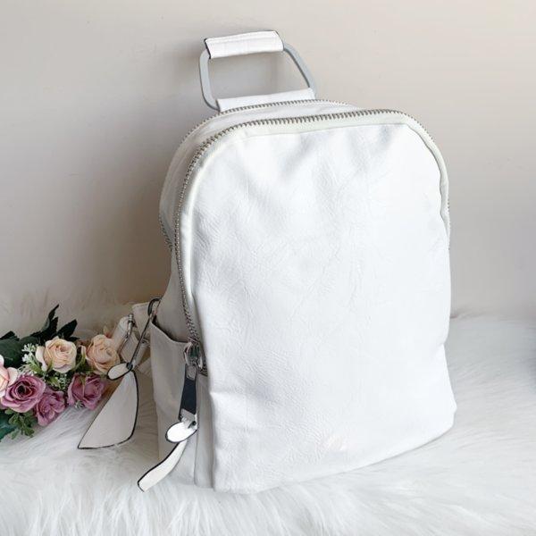 Бяла раница с метална дръжка модел-8104